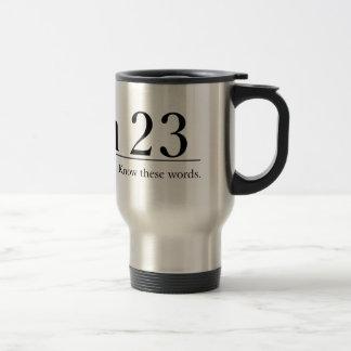 Lea el salmo 23 de la biblia tazas