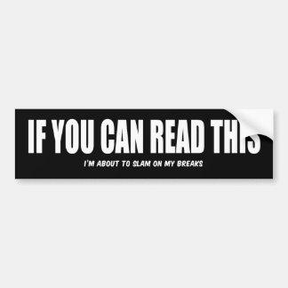 Lea esto pegatina para auto