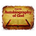 Lea la autobiografía de dios postales