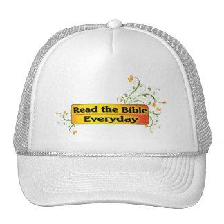 LEA LA BIBLIA DIARIA GORROS BORDADOS