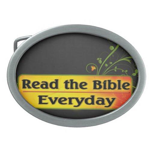 LEA LA BIBLIA DIARIA HEBILLAS DE CINTURON OVALES