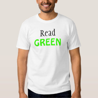 Lea la camiseta unisex VERDE Playeras