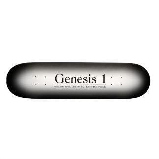 Lea la génesis 1 de la biblia patineta personalizada