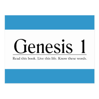Lea la génesis 1 de la biblia tarjetas postales