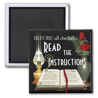 Lea los imanes de la biblia de las instrucciones imán cuadrado