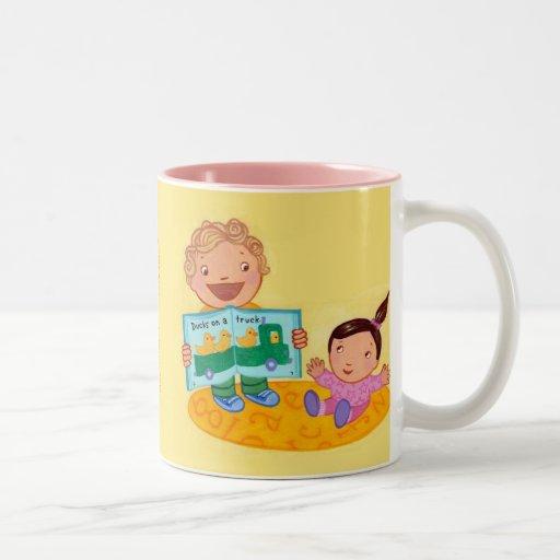 ¡Lea los libros, bebé! taza