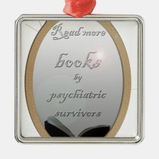 Lea más libros de los supervivientes psiquiátricos adorno cuadrado plateado