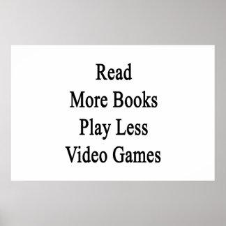 Lea más libros juegan a menos videojuegos póster