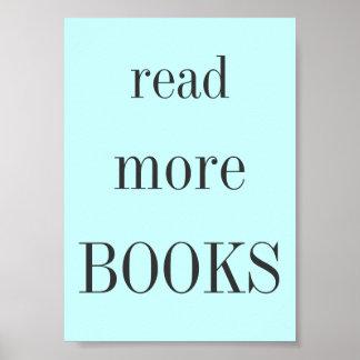 Lea más libros póster