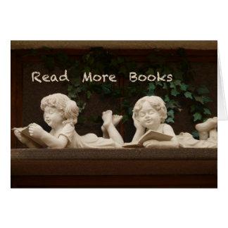 Lea más libros tarjeta de felicitación