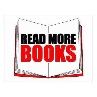 Lea más libros tarjeta postal