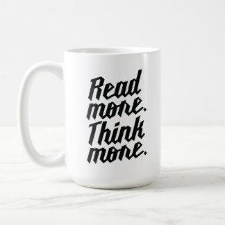 Lea más piensan más tazas de café