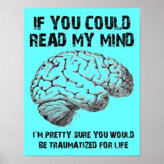 Lea mi muestra divertida del poster de la mente