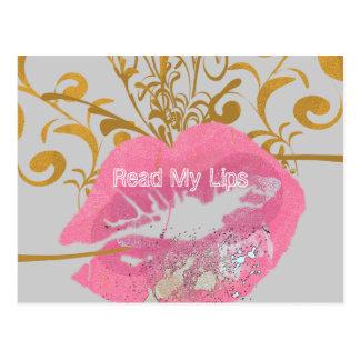 Lea mis labios postal