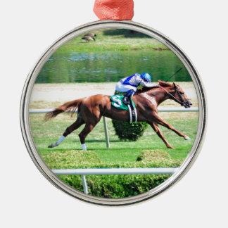 Lea - Stakes Winning Chestnut Colt Metal Ornament