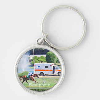 Lea - Stakes Winning Chestnut Colt Silver-Colored Round Keychain