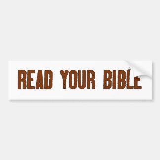 Lea su biblia pegatina para auto