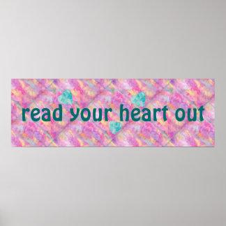 Lea su corazón hacia fuera imprimen póster