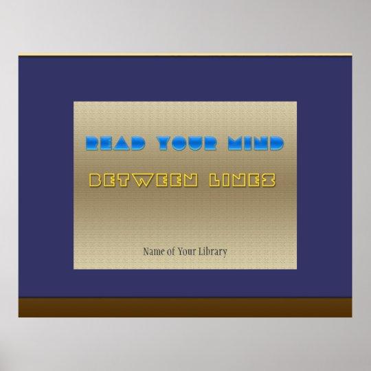 Lea su mente póster