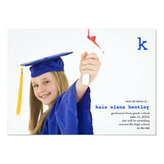 Lea todos sobre él invitación de la graduación de invitación 12,7 x 17,8 cm