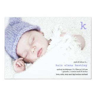 Lea todos sobre él invitación del nacimiento de la invitación 12,7 x 17,8 cm
