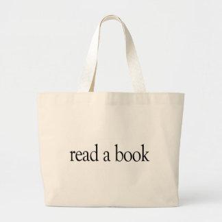 Lea un libro bolsa de tela grande