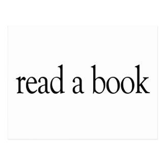 Lea un libro postal