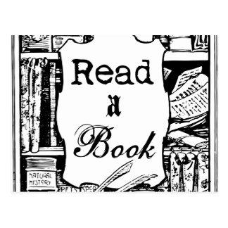 Lea un libro tarjetas postales