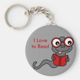 Lea un mes del libro: Amo el leer Llaveros Personalizados