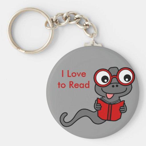 Lea un mes del libro: Amo el leer Llavero Redondo Tipo Pin
