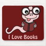 Lea un mes del libro: Amo los libros Tapete De Ratones