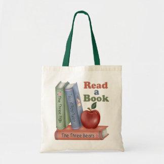 Lea un regalo del profesor del libro bolsa de mano