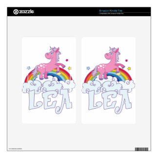 Lea Unicorn Name Decals For Kindle Fire