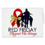 Lea viernes - apoye a nuestras tropas tarjetón