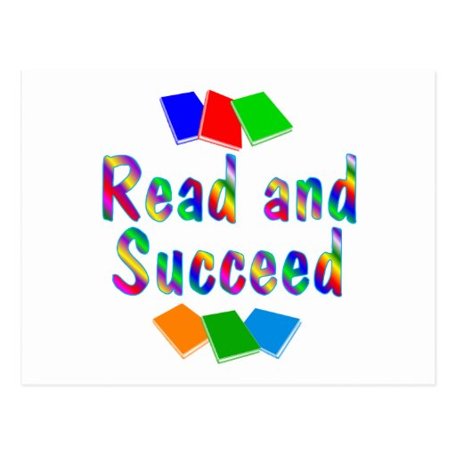 Lea y tenga éxito postales
