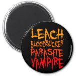 Leach, Bloodsucker, Parasite, Vampire Refrigerator Magnets