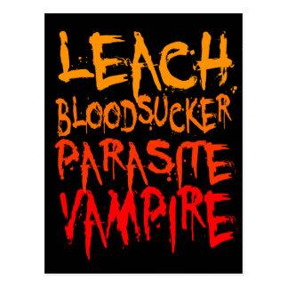 Leach, Bloodsucker, Parasite, Vampire Postcard