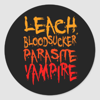 Leach, Bloodsucker, Parasite, Vampire Stickers