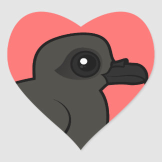 Leach s Storm Petrel swim Heart Stickers
