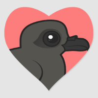Leach's Storm Petrel (swim) Heart Sticker