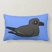 Leach's Storm Petrel (swim) Throw Pillow Lumbar 13