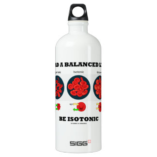 Lead A Balanced Life Be Isotonic Osmolytic Aluminum Water Bottle