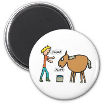 Lead A Horse To Water Magnet