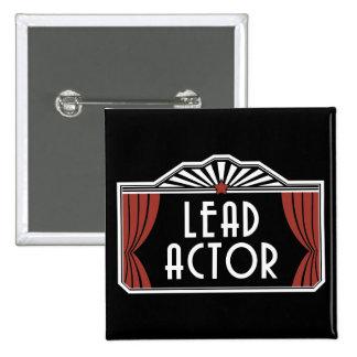 Lead Actor 2 Inch Square Button