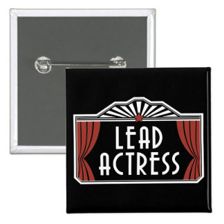 Lead Actress 2 Inch Square Button