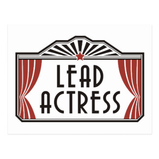 Lead Actress Postcard