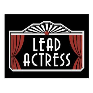 Lead Actress Postcard