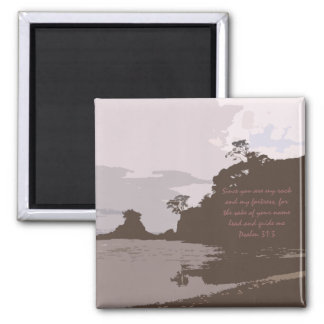 Lead and Guide Me - Psalm 31:3 2 Inch Square Magnet