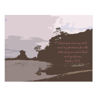 Lead and Guide Me - Psalm 31:3 Postcard