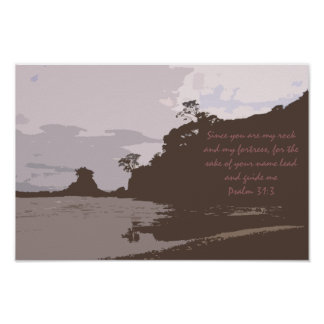 Lead and Guide Me - Psalm 31:3 Poster